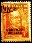 Stamps Argentina -  Domingo F. Sarmiento. Sellos Oficiales