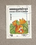 Stamps Cambodia -  Flores