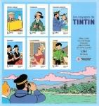 Stamps France -  Los Viajes de Tintín - HB con aportación a la Cruz Roja Francesa