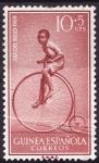 Stamps Equatorial Guinea -  Día del sello(Biciclo)