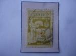 Stamps Argentina -  Ley de Sellos- Argentina 1933-Escudo de Armas-Figura Alegórica- Sello de  pesos.
