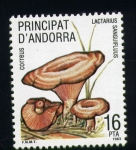 Stamps of the world : Andorra :  lactarius sanguifluus