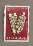 Stamps Romania -  Prensa de madera en Muntenia