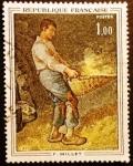 Stamps France -  Arte francés. Jean François Millet