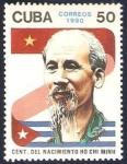 Stamps : America : Cuba :  Centº del nacimiento de Ho Chi Minh