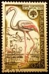 Stamps France -  Año europeo de la naturaleza (Phoenicopterus ruber)
