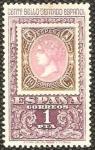 Stamps : Europe : Spain :  centenario del primer sello dentado