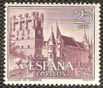 Stamps : Europe : Spain :  1739 - Castillo Alcazar de Segovia