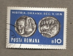 Sellos de Europa - Rumania -  Monedas dacias de plata sigos I-II aJ.
