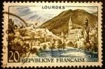 Stamps France -  Lourdes