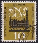 Stamps : Europe : Germany :  125 años ferrocarriles alemanes