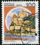 Stamps Italy -  Castillo Ischia
