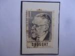 Stamps Uruguay -  Dr. Martín Casimiro Martínez (1859-1959)- Abogado y Político Uruguayo- Sello de 1 Peso, año 1959.