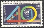 Sellos de Asia - Turquía -  40 aniversario de la ONU