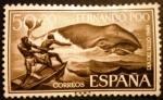 Stamps Spain -  Fernando Poo. Día del sello.Ballena Franca Austral