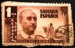 Stamps Spain -  Sahara español. Visita del general Franco