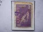 Stamps Panama -  Esgrima -Juegos Olímpicos - Roma 1960- sello de 3 céntimos Año 1960.