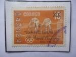 Stamps Panama -  Ciclismo-Juegos Olímpicos Roma 1960-Sello Sobrestampado  y Sobretasa.