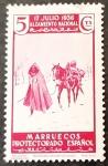 Stamps Spain -  Marruecos español. 1º Aniversario del alzamiento nacional. Mejaznías marroquíes