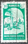 Stamps Spain -  Marruecos español. Tipos diversos. Carta de Marruecos