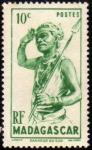 Stamps : Europe : France :  Madagascar - Danseur du sud