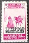 Stamps Spain -  Marruecos español. 4º Aniversario del Alzamiento Nacional