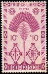 Stamps : Europe : France :  Madagascar Francia Libre