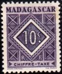 Stamps : Europe : France :  Madagascar Tasas-1947