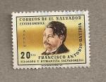 Sellos de America - El Salvador -  Francisco Antonio Gavidia Filosofo y humanista salvadoreño