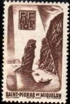 Stamps : Europe : France :  Saint Pierre et Miquelon - Roc de Langlade-1947