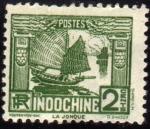 Stamps : Europe : France :  Indochine - La Jonque