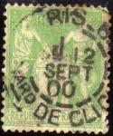 Stamps : Europe : France :  Alegoria Paz y Comercio