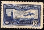 Stamps : Europe : France :  Avion sobrevolando Marsella