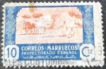Stamps Spain -  Marruecos español. Agricultura.