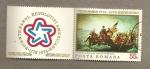 Stamps Romania -  Washington atrevesando el río Delaware