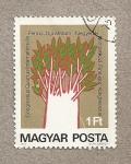 Stamps Hungary -  congreso internacional de lenguas hugaro-finladesas