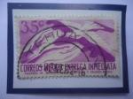 Stamps Mexico -  Correos México-Entrega Inmediata-Avión,Manos y Paloma de la Paz.