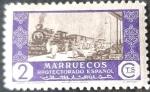 Stamps Spain -  Marruecos español. Comercio
