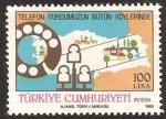 Sellos de Asia - Turquía -  el trabajador de correos (PTT)