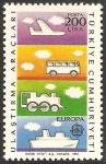 sellos de Asia - Turquía -  europa cept. transporte y comunicacion
