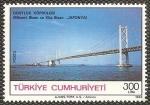 Sellos de Asia - Turquía -  inauguracion puente de la amistad