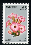 Stamps Europe - Andorra -  flor del tabaco