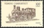 Sellos de Asia - Turquía -  locomotoras