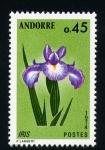 Stamps Andorra -  lirio