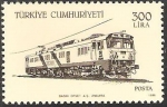 Stamps Asia - Turkey -  locomotoras