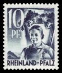 Sellos de Europa - Alemania -  Zona de ocupación francesa Renania Palatinado. 3 Viticultora
