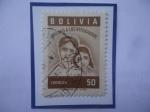Stamps America - Danish West Indies -  Ayuda a los Refugiados - Lágrimas de refugiados del mundo - Sello de 50 ctvos. Año 1960.