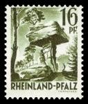 Sellos de Europa - Alemania -  Zona de ocupación francesa Renania Palatinado. 6 La Mesa del Diablo cerca de Pirmasens