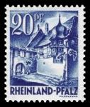 Sellos del Mundo : Europa : Alemania : Zona de ocupación francesa Renania Palatinado. 7 Esquina de la calle San Martin