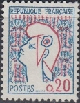 Stamps France -  Marianne: Jean Cocteau